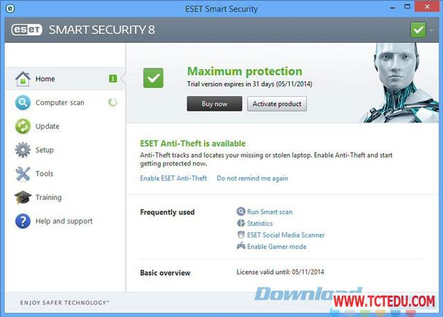 eset multi device security giao dien 1 Phần mềm ESET Multi Device Security