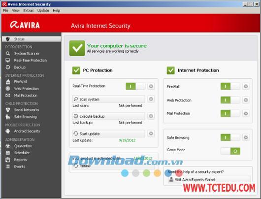 avira internet security 2013 3 1 Phần mềm Clonezilla Live