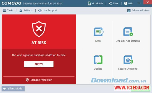 comodo internet security 10 bao mat Phần mềm Kaspersky Total Security 2020