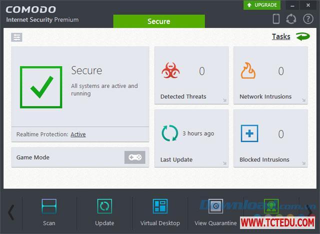 comodo internet security 10 giao dien 2 Phần mềm Comodo Internet Security 10