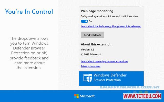 windows defender browser protection cai dat Phần mềm Windows Defender Browser Protection for Google Chrome
