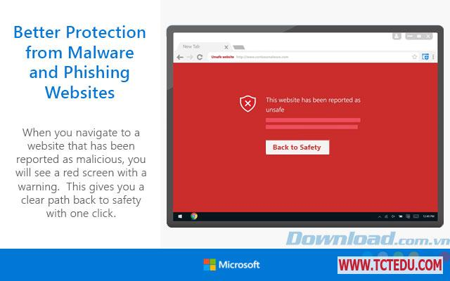 windows defender browser protection canh bao 1 Phần mềm Windows Defender Browser Protection for Google Chrome