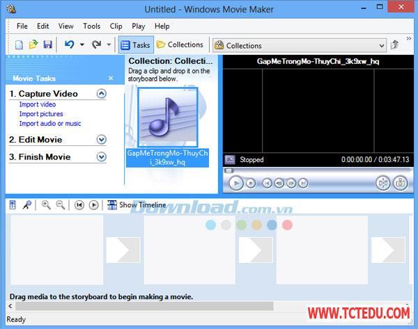 windows movie maker 1 Phần mềm Windows Live Movie Maker 2012
