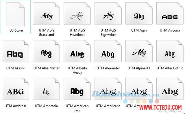 Font Full UTM Tải phần mềm Font chữ tập viết Tiểu học