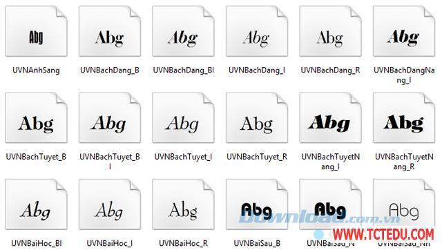 Font Full Unicode 1 Tải phần mềm Font chữ tập viết Tiểu học