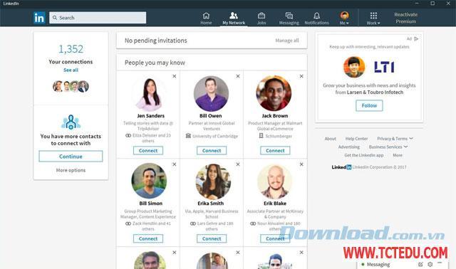 linkedin ket noi Tải phần mềm Toolkit For FB