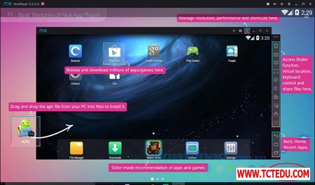nox app player chuc nang 1 1 Phần mềm Epic Games Launcher