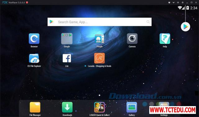nox app player giao dien chinh 1 1 Phần mềm Epic Games Launcher