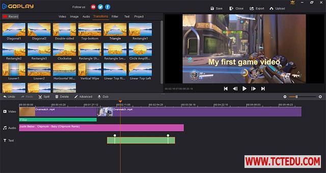 GoPlay sua video GoPlay   Phần mềm Quay video màn hình và chỉnh sửa video miễn phí