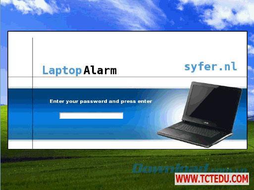 Laptop Alarm chong trom 1 Phần mềm Laptop Alarm, chống trộm máy tính