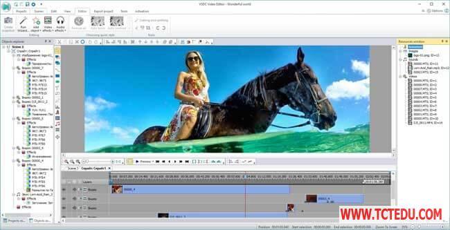VSDC Free Video Editor ui Phần mềm thiết kế, chỉnh sửa Video VSDC Free Video Editor